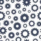 Cogs seamless pattern, technical background, illustration Royalty Free Stock Photography