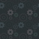 Cogs seamless pattern technology background. Abstract seamless background wallpaper pattern with cogs Stock Illustration