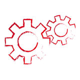 Cogs. Stylized vector red cogs  symbol Stock Photography