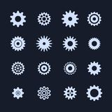 Cogs symbol set on white background, settings icon, illustration. Cogs symbol set on white background, settings icon, vector illustration Stock Photo