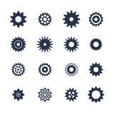 Cogs symbol set on white background, settings icon, illustration. Cogs symbol set on white background, settings icon, vector illustration Royalty Free Stock Image
