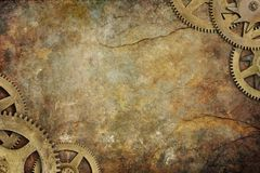Cogs Steampunk Background Royalty Free Stock Photo