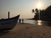 Cogs w Goa, Baga plaża Obraz Royalty Free