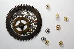 Cogs and wheels. Parts from a watch Royalty Free Stock Photos