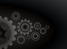 Cogs wheels black color background vector design. Stock Image