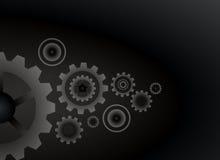 Cogs wheels black color background vector design. Stock Image