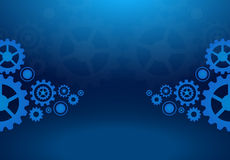 Cogs wheels blue dark background vector design. Royalty Free Stock Photos