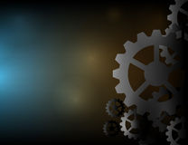 Cogs wheels dark and lights background vector design. Stock Images