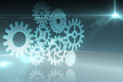 Cogs and wheels graphic Royalty Free Stock Images