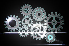 Cogs and wheels graphic Stock Image