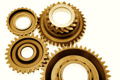 Cogs on white Stock Photos