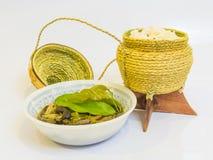 Cogumelo da sopa com arroz pegajoso Imagem de Stock Royalty Free