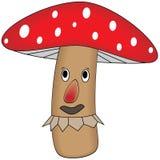Cogumelo engraçado dos desenhos animados Fotos de Stock