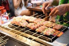 Cogumelo envolvido com grade do bacon Foto de Stock