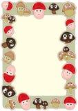 Cogumelo Frame_eps dos desenhos animados Imagem de Stock Royalty Free