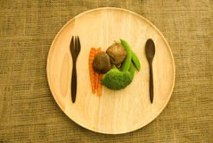 Cogumelo fresco do shitake, brócolis e ervilha verde Fotografia de Stock