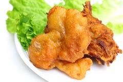 Cogumelo fritado com salada Fotos de Stock Royalty Free