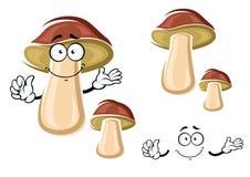 Cogumelo isolado marrom do boleto dos desenhos animados Fotografia de Stock Royalty Free