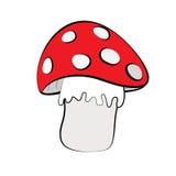 Cogumelo no fundo branco Fotos de Stock