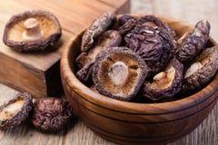 Cogumelo secado de Shitake Foto de Stock