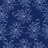 Cogumelos abstratos do psilocybin do teste padrão Ilustração Royalty Free
