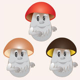 Cogumelos alegres Fotos de Stock Royalty Free