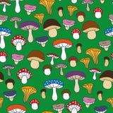 Cogumelos bonitos do teste padrão sem emenda ilustração royalty free