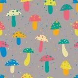 Cogumelos coloridos Imagens de Stock