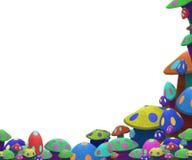 Cogumelos coloridos engraçados Imagem de Stock