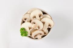 Cogumelos cortados Fotos de Stock