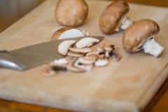 Cogumelos cortados Imagem de Stock