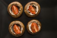 Cogumelos crus Fotos de Stock Royalty Free