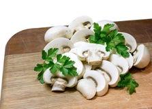 Cogumelos de botão Imagem de Stock