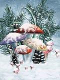 Cogumelos de inverno ilustração do vetor