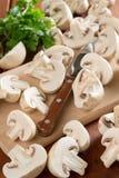 Cogumelos e salsa Imagem de Stock Royalty Free