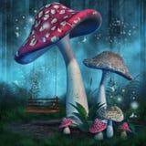 Cogumelos e um balanço Foto de Stock Royalty Free