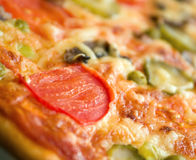 Cogumelos e vegetal da pizza Imagem de Stock