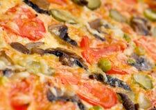 Cogumelos e vegetal da pizza Imagens de Stock Royalty Free