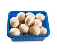 Cogumelos em um pacote plástico imagem de stock royalty free