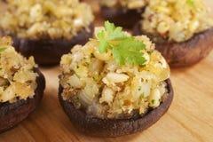 Cogumelos enchidos Imagem de Stock