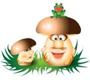 Cogumelos engraçados dos desenhos animados Imagem de Stock Royalty Free