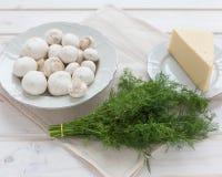 Cogumelos frescos Fotos de Stock Royalty Free