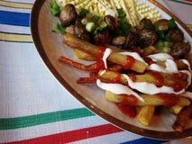 Cogumelos fritados Fotografia de Stock Royalty Free