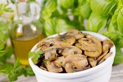 Cogumelos fritados Imagem de Stock Royalty Free