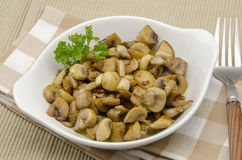 Cogumelos fritados Fotografia de Stock