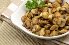 Cogumelos fritados Fotos de Stock Royalty Free