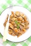 Cogumelos fritados Foto de Stock