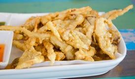 Cogumelos fritados deliciosos Imagem de Stock Royalty Free