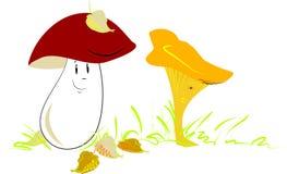 Cogumelos no amor Ilustração Stock