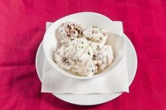 Cogumelos no creme de leite 1 Foto de Stock Royalty Free